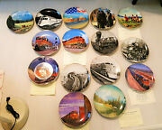 Bnsf Railway Set Of 16 Collectors Collectible Plates New