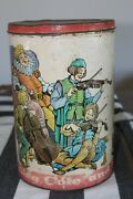 Old King Cole Potato Chip Can Vintage Tin 40s