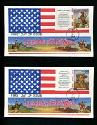 Us Fdc 2869 Lgs With Bunting Border 1994 Tucson Az Legends Of The West Set 20