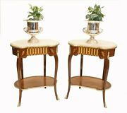 Pair French Side Tables Kidney Bean Louis Xvi Cocktail