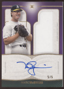 2021 Topps Definitive Collection Mark Mcgwire Purple Jersey Auto /5