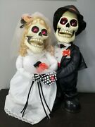 Newly Deads Bride Groom Skeleton Animated Halloween Sings I Got You Babe