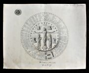 Austro-hungarian Monuments Preservation Dept. Pencil Drawing Of Wiltener Paten