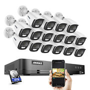 Annke 5mp Full Color Video 16ch 4k Dvr Outdoor Security Camera System Night Cctv