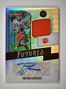 2021 Legacy Futures Patch Silver Auto Fp-tl Trevor Lawrence 62/75 Clemson Tigers