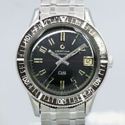 Certina Divers Original Black Dial Cal.25.651 Automatic Vintage Watch 1960and039s