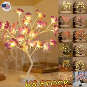 Battery Usb Operated Diy Artificial Flower Maple Tree Lamp Led Tabletop Light