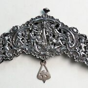 Old Heavy French Sterling Silver Purse Frame Repousse Cherubs Openwork Putti Sl