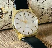Omega Geneva Used Watch Antique Menand039s Date Display Automatic Gold Ss Beauty Good