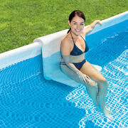 Intex Pool Bench, Foldable Seat For Above Ground Swimming Pools