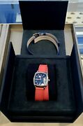 David Yurman 27mm Albion Blue Dial Pink And Blue Leather Straps Watch