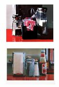 Bundle- 2 Assorted Ralph Goings Diner Condiments Lithographs
