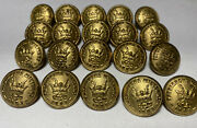 Lot Of 20 Antique I.o.o.f. Patriarchs Militant Brass Coat Buttons Ref15