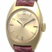 Ladies Manual K18yg Antique Gold Dial Round 20mm Leather