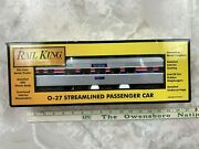 Rail King O-27 Amtrak Streamlined Passenger Car Rk-6001 By Mth Electric Trains