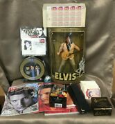 Collection Of Elvis Presley Memorabilia _doll Pez Trading Cards Watched Andmore