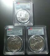 3-american Silver Eagles 20202020w And 2020s Pcgs Ms70 First Strike Fast Ship