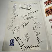 Authentic Neil Armstrong 1st Man On Moonautograph+mccovey, Bench, Bob Knight++