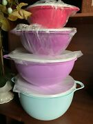 New In Package Tupperware Set Of 4 Thats A Bowls- Spring Colors