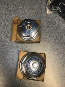 Nos 1970and039s 80and039s Vintage Cragar Chrome Center Hub Caps Hex Bolt On 15 29035 T1a