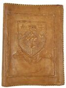 Vintage Tooled Embossed Leather Book Bible Journal Cover Mastery For Service