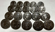 """Lot Of 20 Subdued Wwi """"the Nation To Her Defender"""" Coat Buttons Ref22"""