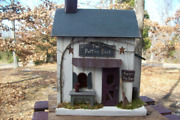 Potting Shed , Primitive House , Lighted House , Home Decor , Rustic Birdhouse