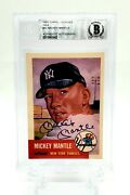 1991 Topps Archives Mickey Mantle Bgs Authentic Signed Auto 1953