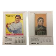 Vintage 1992 Lot Of 6 Double-sided Mma 1993 12 Month Calendar Of Baseball Cards
