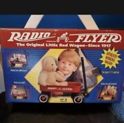 Lot Of 4 Vintage Radio Steel Flyer Line Small Toy Wagon-new In Box