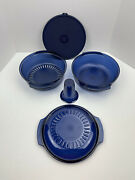 Tupperware Microwave Stack Cooker Bowls Steam Basket Coneandcover 5 Pieces Purple