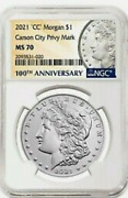 2021 Ngc Ms70 Pre Order Cc And O Mint Privy .both Coins Ship Free Overnite