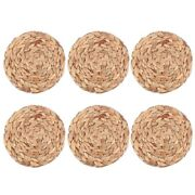 30x6pack Round Woven Placemats For Dining Table 7.8 Inch St Braided Placemat