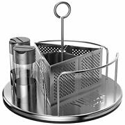 Rotating Organizer Caddy For Utensils, Sauces, Condiments, Napkins, Salt And