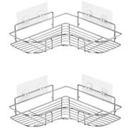 30x2-pack Corner Shower Caddy Stainless Steel Wide Space Shower Shelf With