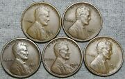 1910-s 1911-d 1916-s 1922-d 1929-d Lincoln Cent Wheat Penny Nice Lot ---- N435