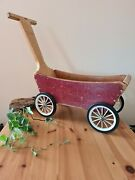 Vintage Wooden Cart Toy By Adventure Playthings Antique Toy Trolley