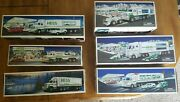 Lot Of 6 Hess Trucks 1987, 1991, 1992, 1997, 2003, 2008 With Original Boxes
