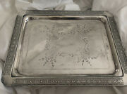Antique Victorian Aesthetic Silverplate Silver Plated Tray Platter No Handle
