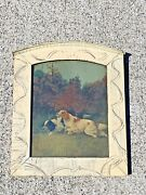 Antique Lithograph England English Setter Pointer Dogs On Hunt 12/10 ❤️sj17j1s