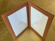 Leather Photo Picture Frame Double 4x6 Home Decor Red Envelope Magnetic Cosure