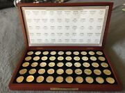 Gold And Silver Highlighted U.s. Statehood Quarters Postal Commemorative Society