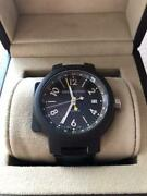 Louis Vuitton Tambour Gmt Swiss Made Stainless Automatic Winding Menand039s Watch