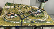 N-scale Woodland Scenics Model Train 3andrsquox6andrsquo 2-level Complete Layout W/trainandndashnew