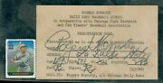 1945 Rogers Hornsby Rare Dailey News Baseball School Filled Out Auto Jsa Loa