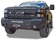 New Steelcraft Smooth Plate Winch Mount Front Bumper 15 - 19 Chevy 2500 3500