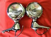 Vintage Fog Lights With Mounting Brackets For 1949 1950 1951 Mercury
