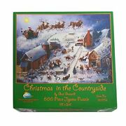 Christmas In The Countryside 500 Piece Jigsaw Puzzle