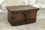 Antique 17th Century Wood Chest Trunk. Collectible. Home Decor. Spaces Decor