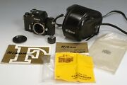 Nikon F W/ Ftn Photomic Finder Camera Black Body And Leather Case Barely Used